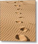 Leave Only Footprints Metal Print by Heather Applegate