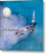 Leavin' On A Jet Plane Metal Print by Rebecca Cozart
