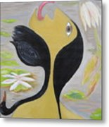 Leda And The Swan Metal Print by Sue Wright