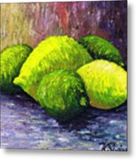 Lemons And Limes Metal Print by Kamil Swiatek
