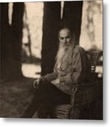 Leo Tolstoy 1828-1910 Russian Novelist Metal Print by Everett