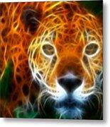 Leopard Watching At His Prey Metal Print by Pamela Johnson