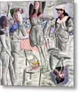 Les Demoiselles Of Santa Cruz V8 Metal Print by Susan Cafarelli Burke