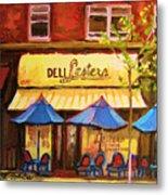 Lesters Cafe Metal Print by Carole Spandau