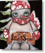 Let It Snow 2 Metal Print by  Abril Andrade Griffith