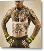 Levi Price Cage Fighter Metal Print by Rich Beer