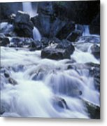 Liberty Falls And River In Liberty Metal Print by Rich Reid
