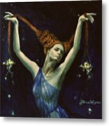 Libra From Zodiac Series Metal Print by Dorina  Costras