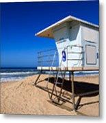 Lifeguard Tower Photo Metal Print by Paul Velgos