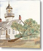 Lighthouse Sketch Metal Print by Ken Powers