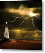 Lightning Storm Metal Print by Meirion Matthias