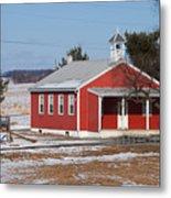 Lil Red School House Metal Print by Robert Sander