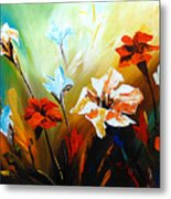Lily In Bloom Metal Print by Uma Devi