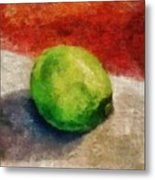 Lime Still Life Metal Print by Michelle Calkins