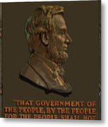Lincoln Gettysburg Address Quote Metal Print by War Is Hell Store