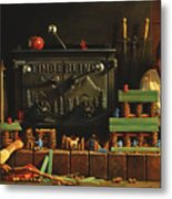 Lincoln Logs Metal Print by Greg Olsen