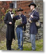 Lincoln With Officers 2 Metal Print by Ray Downing