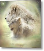 Lion Moon Metal Print by Carol Cavalaris