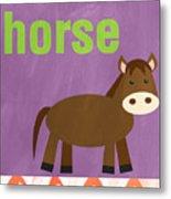Little Horse Metal Print by Linda Woods