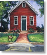 Little Red Schoolhouse Nature Center Metal Print by Christine Camp