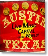 Live Music Mural Of Austin Metal Print by Andrew Nourse