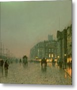 Liverpool Docks From Wapping Metal Print by John Atkinson Grimshaw