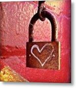 Lock/heart Metal Print by Julie Gebhardt
