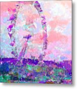 London Eye Metal Print by Marilyn Sholin