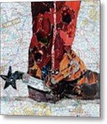 Lone Star Spur Metal Print by Suzy Pal Powell