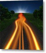 Long Road In Twilight Metal Print by Setsiri Silapasuwanchai