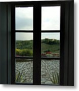 Looking Through The Window Of A Tuscan Metal Print by Todd Gipstein