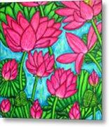 Lotus Bliss Metal Print by Lisa  Lorenz