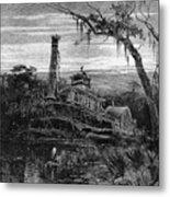 Louisiana: Steamboat Wreck Metal Print by Granger