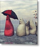 Lousy Weather Metal Print by Jutta Maria Pusl