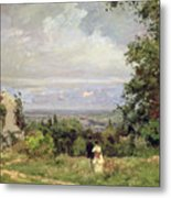 Louveciennes Metal Print by Camille Pissarro