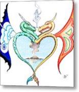 Love Dragons Metal Print by Robert Ball