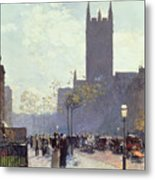 Lower Fifth Avenue Metal Print by Childe Hassam