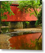 Loys Station Bridge. Thurmont Maryland Metal Print by Matthew Saindon