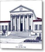 Lsu Old Law Building Metal Print by Frederic Kohli