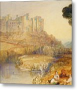Ludlow Castle  Metal Print by Joseph Mallord William Turner