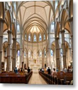 Lunchtime Mass At Saint Paul Cathedral Pittsburgh Pa Metal Print by Amy Cicconi