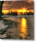 Lydiard Sunset Metal Print by Terry Walters
