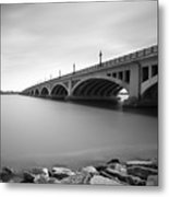 Macarthur Bridge To Belle Isle Detroit Michigan Metal Print by Gordon Dean II