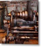Machinist - Steampunk - 5 Speed Semi Automatic Metal Print by Mike Savad