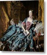 Madame De Pompadour Metal Print by Francois Boucher