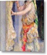 Mademoiselle Fleury In Algerian Costume Metal Print by Pierre Auguste Renoir