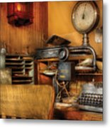 Mailman - In The Office Metal Print by Mike Savad