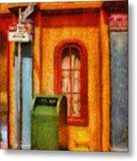 Mailman - No Parking Metal Print by Mike Savad