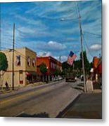 Main Street Clayton Nc Metal Print by Doug Strickland