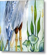 Majestic Blue Heron Metal Print by Lyse Anthony